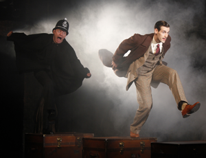 Jamie Jackson and John Behlmann in THE 39 STEPS