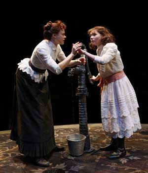 Alison Pill and Abigaile Breslin in THE MIRACLE WORKER