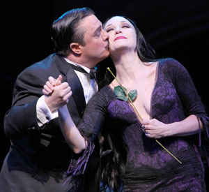 Nathan Lane and Bebe Neuwirth in The Addams Family