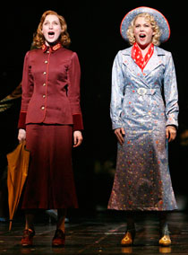 Kate Jennings Grant (L) and Lauren Graham in the Broadway revival of Guys and Dolls