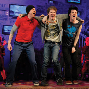 Stark Sands, John Gallagher, Jr., and Michael Esper in AMERICAN IDIOT