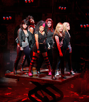 Rebecca Naomi James and the Cast of AMERICAN IDIOT