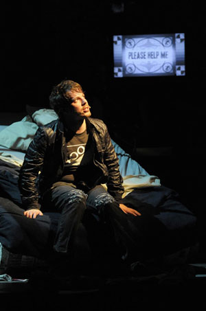 John Gallagher Jr in AMERICAN IDIOT