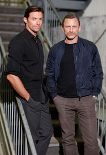 Hugh Jackman and Daniel Craig in A Steady Rain