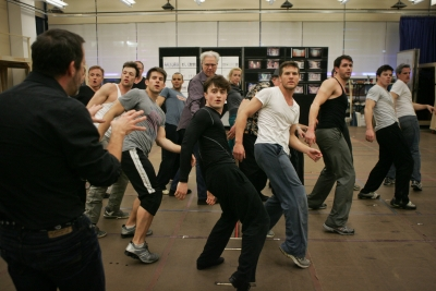 John Larroquette and Daniel Radcliffe Rehearse with the Cast for HOW TO SUCCEED IN BUSINESS WITHOUT REALLY TRYING