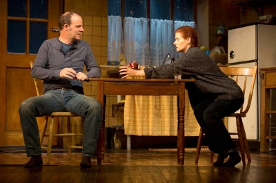 Brían F. O'Byrne and Debra Messing
