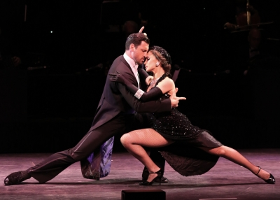 Karina Smirnoff and Maksim Chmerkovskiy in Forever Tango on Broadway